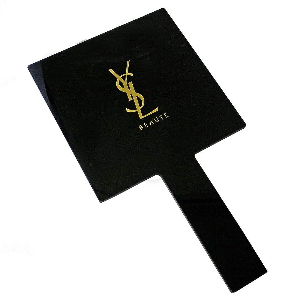 恋人石化するホース(イヴ サンローラン) Yves saint Laurent ハンドミラー 手持ち 鏡 ミラー ロゴ 黒 ブラック 金 ゴールド 化粧 メイク コスメ