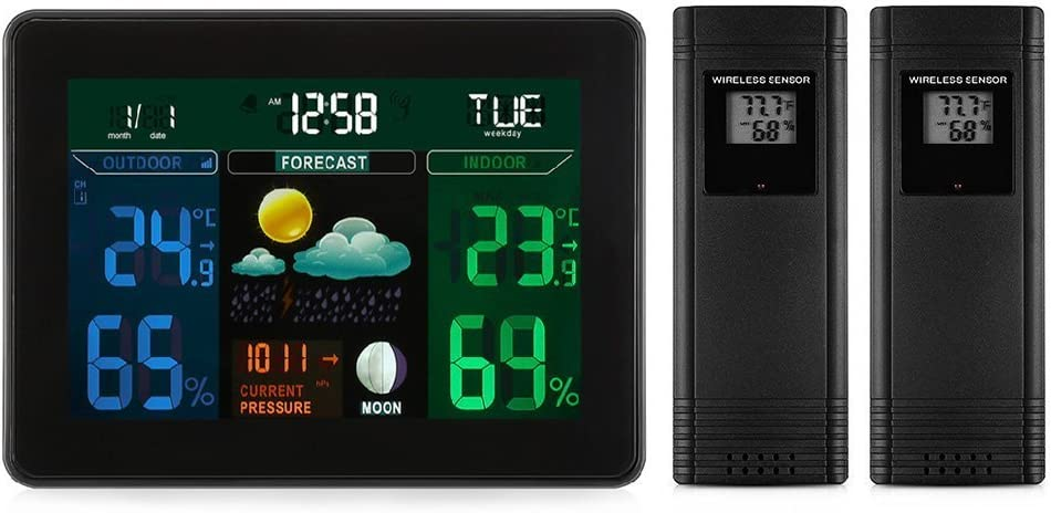 Digital Wireless Weather Station The Indoor New products, world's highest quality popular! Hygrometer Outdoor Phoenix Mall