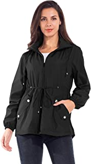 JTANIB Women's Lightweight Hooded Drawstring Waist...