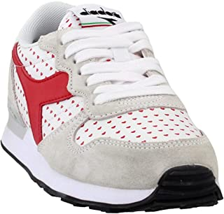 Diadora Womens Camaro Valentine Casual Sneakers, Red;White, 8.5