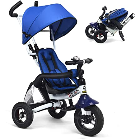 4in1 Trike Tricycle Stroller Triciclo Trisikel Kids Bike Toddler Push Christmas