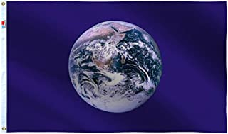 rhungift Earth Day Flag 3x5 Ft Large, Both Sides 100D Polyester for Moderate-Outdoor&Indoor,Canvas Header Brass Grommets f...