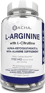 DACHA Premium L Arginine Pills - 1920 MG AAKG Nitric Oxide Precursor, L-Citrulline HCL, Essential Amino Acids for Energy, ...