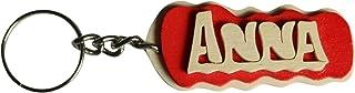 Portachiavi personalizzato in legno fatto a mano con nome o data, da indossare o per fare un regalo originale