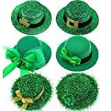 6 Pieces St. Patrick's Day Party Hat Hairpins Leprechaun Hats Mini Hat Hair Clips Irish Green Accessories for Women Girls, St. Patrick's Day Decorations