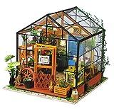 La Vida en Led DIY Casa Muñecas Miniatura Invernadero Puzzle