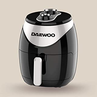 Daewoo 4 Liter Air Fryer with Rapid Air Circulation Technology 1500W Korean Technology DAF8017 Black/Silver - 2 Years Warr...