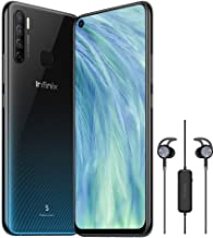 Infinix S5 X652A Premium, Free Gift Headset Bundled,6.6 inch Infinity-O Display,128GB+6GB RAM,32MP Front Camera,AndroidTM 9 Pie system,4G LTE, BLACK