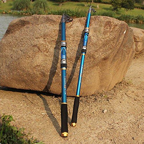 Boldion (TM) Hot sale canna da pesca telescopica 2.4m 2,4m in fibra di carbonio da viaggio spinning canna da pesca Tackle Tools
