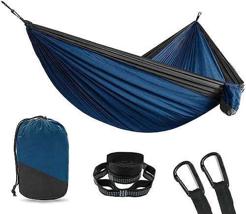 DCKJL Hamac Double Ultralight Camping Hamac Arbre Sangles Mobilier D'extérieur Nylon Portable en Plein Air Swing Hamac