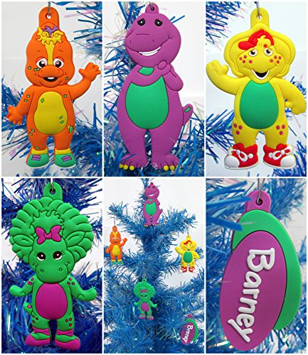 Christmas Tree Ornaments Barney and Friends Unique Set Featuring Shatterproof Ornaments Around 3' Tall