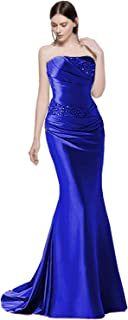 Lily Wedding Womens Mermaid Evening Dresses Long Satin Formal Prom Gowns Gp06
