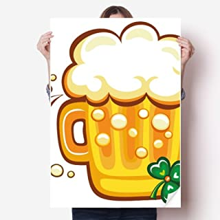 Clover Yellow Beer Ireland St.Patrick's Day Sticker Poster Decal 31x22
