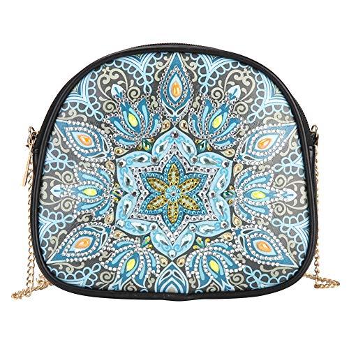 Domybest Doe-het-zelf schoudertas voor dames, met diamantpainting Mandala Blauw