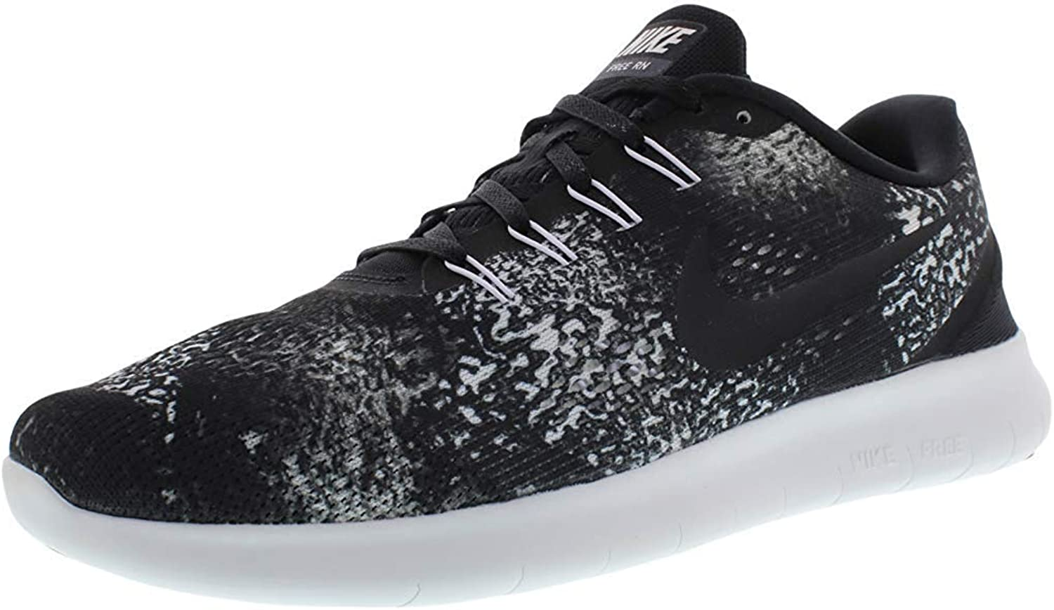 Nike Mens Free Rn Print Low Top Lace Up Running Sneaker