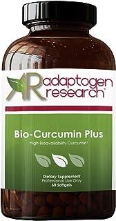 Bio-Curcumin Plus Curcuminoid Proprietary Blend | Bioavailable Curcumin with Turmeric Oil, Sunflower Lecithin, and Vitamin E | 60 Softgels