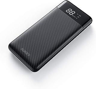 AUKEY Power Bank 10000mAh, USB C Caricabatterie Portatile con 3 uscite e 2 ingressi, Batteria Esterna per iPhone 11/PRO/XS...
