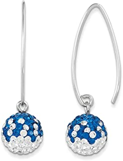 Spirit by Chelsea Taylor Sterling Silver Swarovski Elements Indianapolis Spirit Ball Earrings One Size