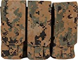 Fire Force Molle M4/M16 Triple Mag Pouch (Holds 6) Made in USA (MARPAT Woodland)