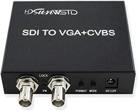 SDI (SD-SDI/HD-SDI/3G-SDI) to VGA+CVBS/AV+SDI Converter Support 1080P for Monitor/Camera/Display with us Power Adapter