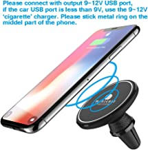 MagicBiu 10W Fast Magnetic Wireless Charger, Car Charging Mount, Air Vent Phone Holder, 7.5W Compatible for iPhone Xs/XS Max/XR/X/8/8 Plus,10W Compatible Galaxy S9/S9+/S8/S8+/Note 8, QI Certified