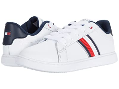 Tommy Hilfiger Kids Iconic Court 2.0 (Little Kid/Big Kid) (White Smooth) Kid