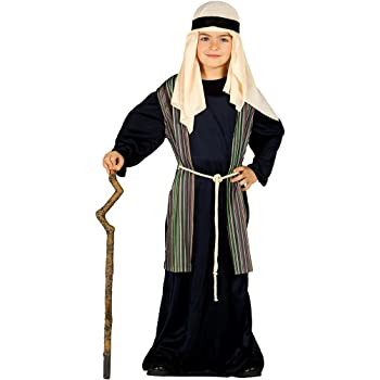 Costume pastorello arabo blu giudeo Presepe vivente bambino 3-4
