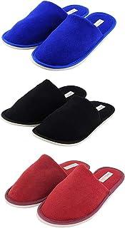 Travelkhushi Black & Maroon Slippers