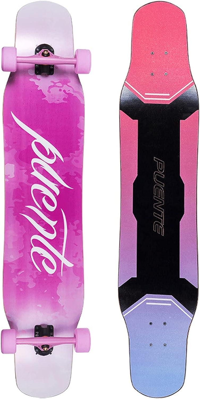 EEGUAI Superlatite Longboard Skateboard 46 inch Maple Layer Complete Longb Over item handling ☆ 8