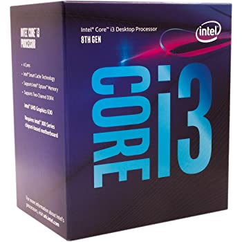 Intel Core i3-8100 Desktop Processor 4 Cores up to 3.6 GHz Turbo Unlocked LGA1151 300 Series 95W
