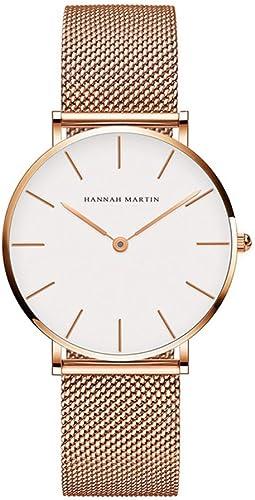 Women 36Mm Stainless Steel Mesh Watch Fashion Ultra Thin Rose Gold Waterproof Ladies Watch