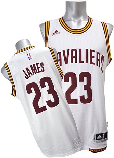 Amazon.com: adidas Lebron James Men's White Cleveland Cavaliers ...