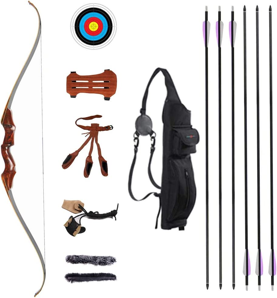 TOPARCHERY 58'' Archery Recurve Bow and Arrow 40- Adults Inexpensive for Set outlet