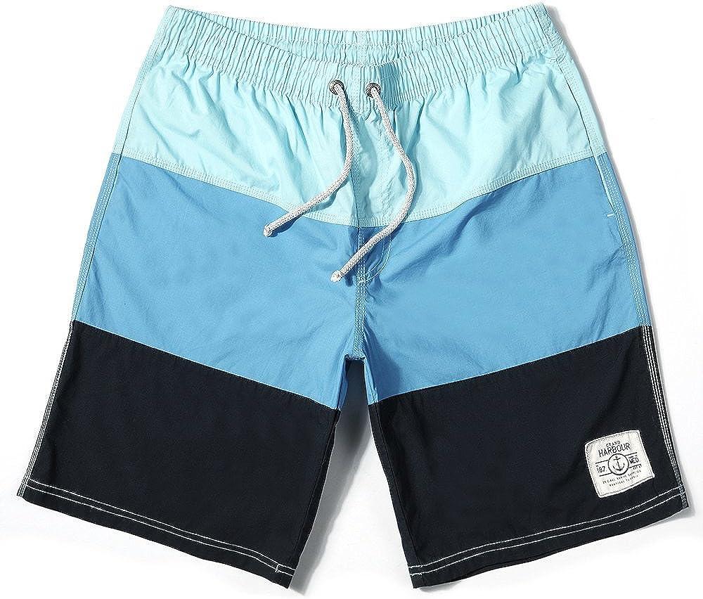 Gailang Men Beach Board Surfing Swim Trunks Strip Quick Drying Shorts Casual