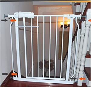 HONGNA Telescopic Pet Fence Child Safety Fence Indoor Anti-dog Guardrail Isolation Railing Dual Lock Self Closing  Color High78CM  Size 146 157 9cm