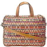 K London 14 Inches Eco-Friendly Multi-Coloured Jacquard & Vegan Leather Handmade Laptop Bag Cross Over Shoulder Messenger Bag Office Bag for Women (2101_multiclr)