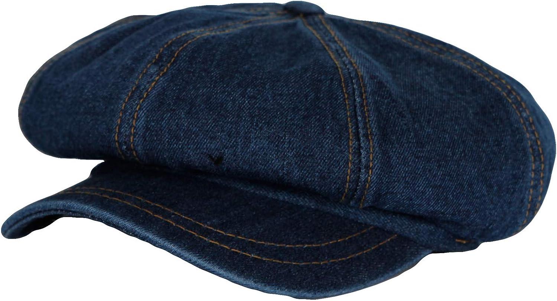 WITHMOONS Denim Cotton Newsboy Hat Baker Boy Beret Flat Cap KR3613