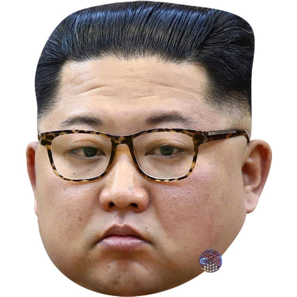 Kim Jong-Un (Glasses) máscara de celebridad, cara de tarjeta y ...