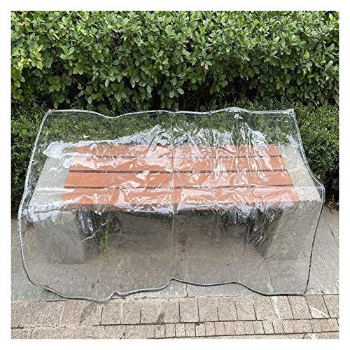 YJFENG Cortina De Lluvia para Balcón, Lona Transparente De PVC Resistente, Grosor De 0,3 Mm, 375GSM, Dobladillo De Cuerda De Nailon con Ojal, para Terrazas, Jardín (Color : Claro, Size : 1.2X3M)
