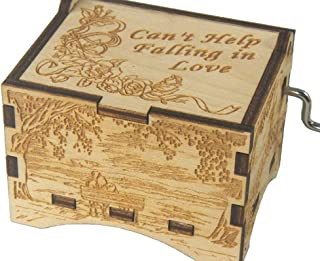 TheLaser'sEdge, Can't Help Falling in Love, Personalizable Music Box, Laser Engraved Wood (Artistic Standard)