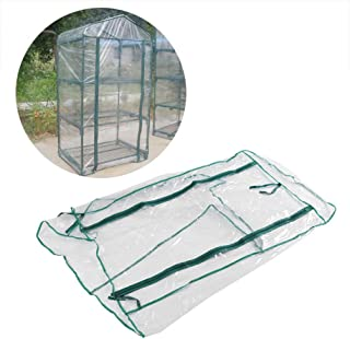 3 Tier Small Greenhouse Cover Replacement Accessories Gardening House Plant Cover Green House Warmhouse Warm Garden Tent for Winter Indoor Outdoor Seeds Herb Flower Growing (Shelf Not Included)