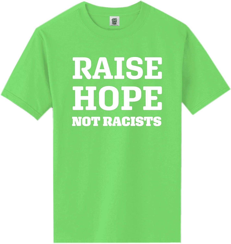 Raise Hope Not Racists Short Sleeve Neon Tee