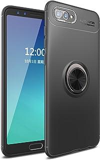 TiHen Funda Huawei Nova 2s, 360 Grados Protective con Anillo Soporte+Pantalla de Vidrio Templado Case Cover Skin móviles telefonía Carcasas Fundas para Huawei Nova 2s -Negro