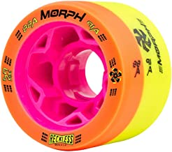 Reckless Wheels - Morph - 4 Pack of 38mm x 59mm Dual-Hardness Roller Skate Wheels