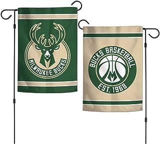 "NBA Milwaukee Bucks 12.5"" x 18"" Inch 2-Sided Garden Flag Logo"