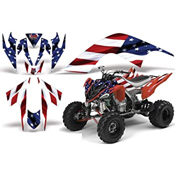 Yamaha Raptor 700R 2006-2012 Graphics Decal Kit by Allmotorgraphics NO2500 yellow