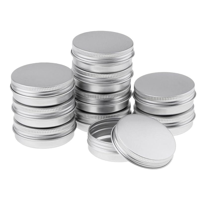 傷つきやすいペアコテージHomyl 10個 空缶 ジャー スクリュー蓋付き アルミ ラウンド 詰替え容器 コスメ DIY 3サイズ選べる - 5.7x2.3 cm