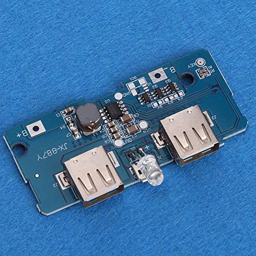 Dual-USB 3.7V a 5V Boost Módulo Junta 2pcs con luz LED
