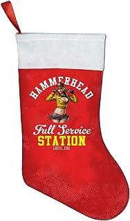 65469longshuo Calcetín navideño Hammerhead Service Station Final Fantasy XV Christmas Stocking Xmas Sock Sack Gift Bag for Tree Decoration Candy Pouch Bag Santa Stocking