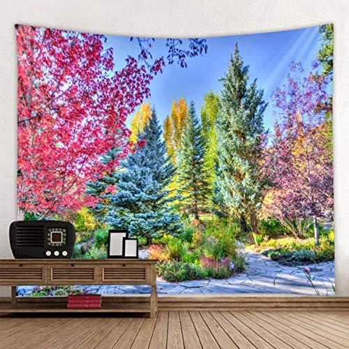 Tapiz de árbol natural hermoso bosque árbol fondo impresión tapiz salón oficina decoración grande manta varios tamaños